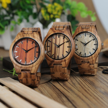 BOBO BIRD Mens Gifts Watches Wooden Dial Face & Band Quartz Bamboo Wood Wristwatch for Male relogio masculino montre homme 2017