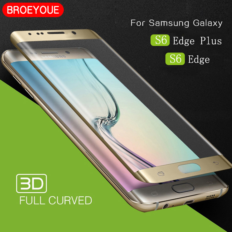 Tempered Glass For Samsung S6 S7 S8 S9 S10 SE Edge Plus Note 8 9 Screen Protector 3D Curved Edge Full Cover Explosion-proof Film