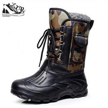 Sepatu Bot Musim Dingin Pria Sepatu Bot Memancing Non-Slip Tahan Air Sepatu Kerja Sepatu Perkakas Sepatu Pria Hangat Ski Luar Ruangan Sepatu