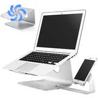 Aluminum Alloy Laptop Cooling Holder Desktop Ergonomics Heighten Notebook Support for MacBook Air Pro Stand Tablet phone holder