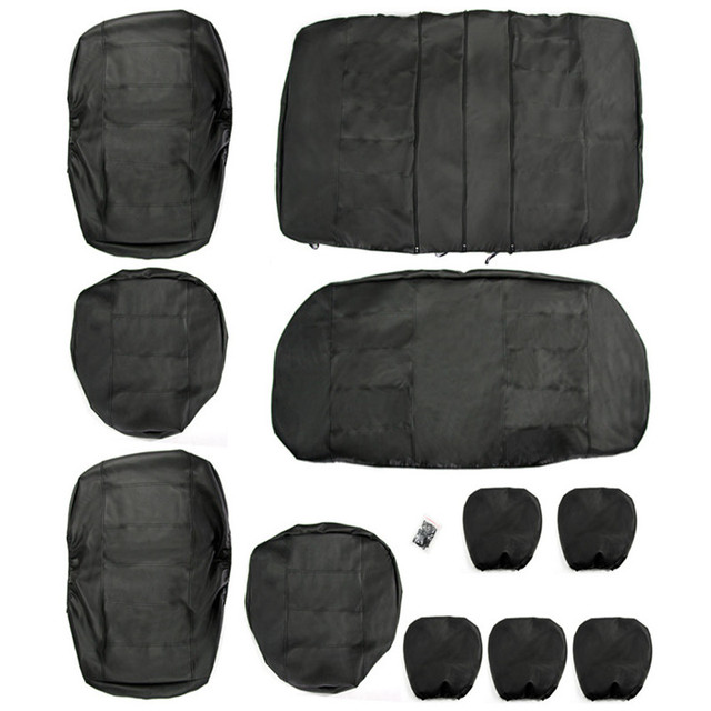 Hot sale high quality Universal Car Seat Covers PU Leather 11PCS/Set Front Rear Cover Set for Crossovers SUV Sedans