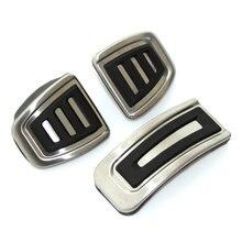 Pedal MT de acero inoxidable para coche, almohadillas para VW Polo Jetta MK4 Bora Golf MK4, Seat Ibiza 6K 6L 6J 3 unids/set