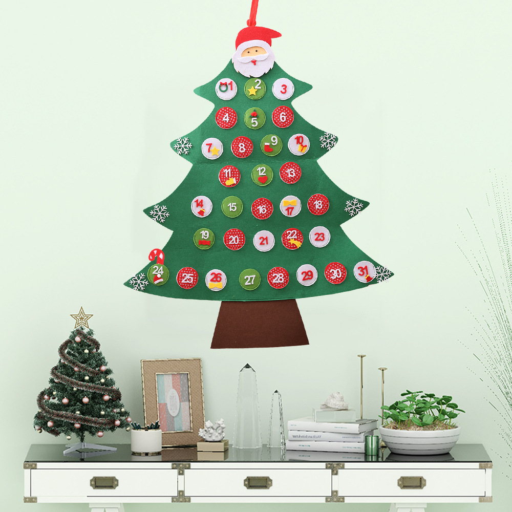 Christmas Date.Us 7 42 28 Off Happy New Year Decoration Date 1 31 1 24 Advent Calendars Wall Hanging Kids Diy Christmas Tree Countdown For Home Navidad In Advent