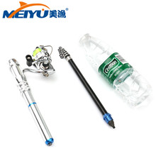 EMMROD 2018 New Spinning Pen Type Detachable Fishing Rod Telescopic  1.5M With 1 metal wheel Childrens gifts Free Shipping
