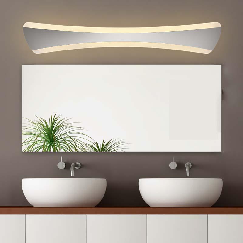 llevados modernos pared lmparas v impermeable del espejo del led de bao de cristal lmpara