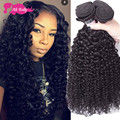7A Mongolian Kinky Curly Hair With Closure Hair Bundles With Lace Closures Afro Kinky Closures Human Hair Weave With Closure