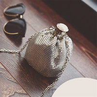 New Shape Hip Flask Bag Fashion Chain Bucket Personality Single Shoulder Handbag Women Cross Body BAGS