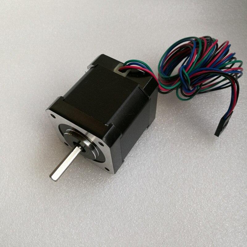 0.9 degree Nema 17 Stepper Motor Bipolar 2A 46Ncm/65oz.in 42x42x48mm 4-wires for DIY CNC 3D printe0.9 degree Nema 17 Stepper Motor Bipolar 2A 46Ncm/65oz.in 42x42x48mm 4-wires for DIY CNC 3D printe