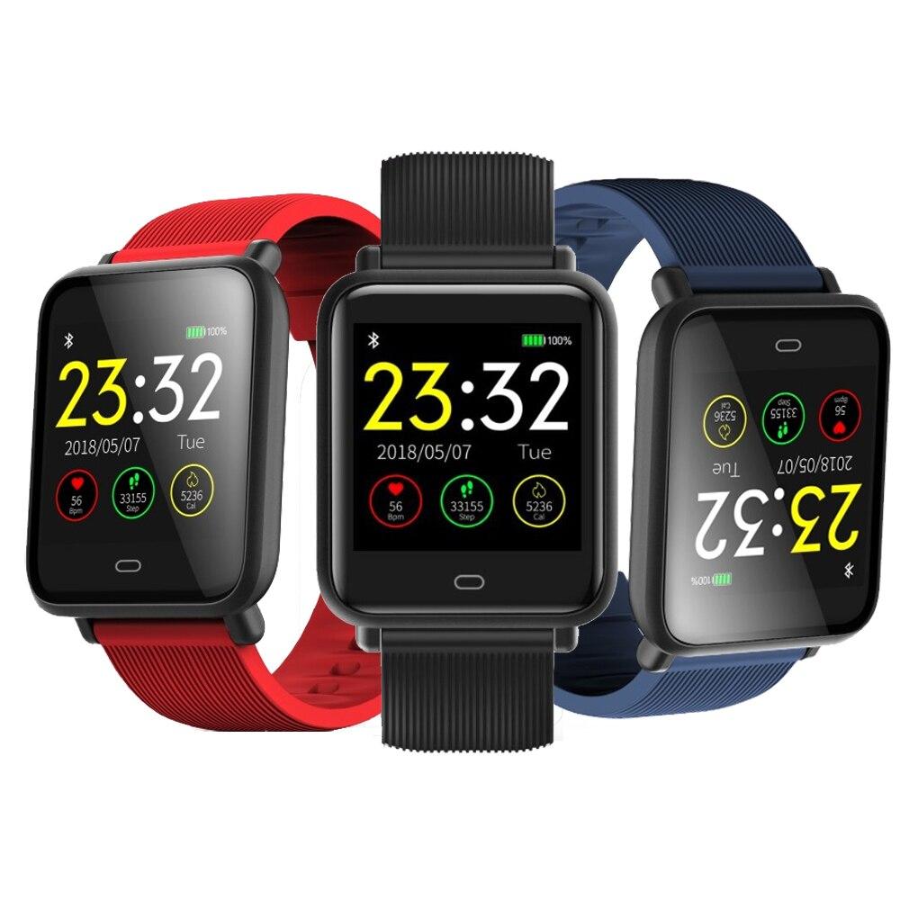 2018 Montre Smart Watch Hommes Couleur TFT Écran Remise En Forme Horloge Sang pression IP67 Étanche Activité Sportive Coeur Taux Tracker Smartwatch