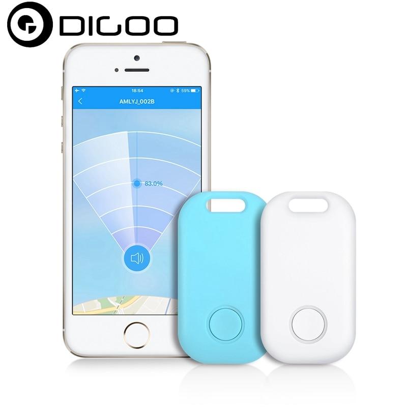 Digoo DG-KF30 Mini Smart Finder Wireless Bluetooth Alarm Anti Lost Device Locator for Kids Key Luggage Wallet Phone Trackers personal anti lost alarm device for kid pet purse bag cell phone blue black 1 cr2032 2 cr2032