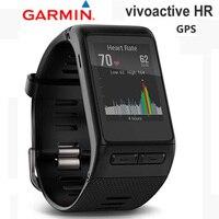 Оригинальный gps garmin Vivoactive HR сердечного ритма трекер для велосипеда и уличных видов спорта bluetooth гольф плавание для мужчин Смарт часы