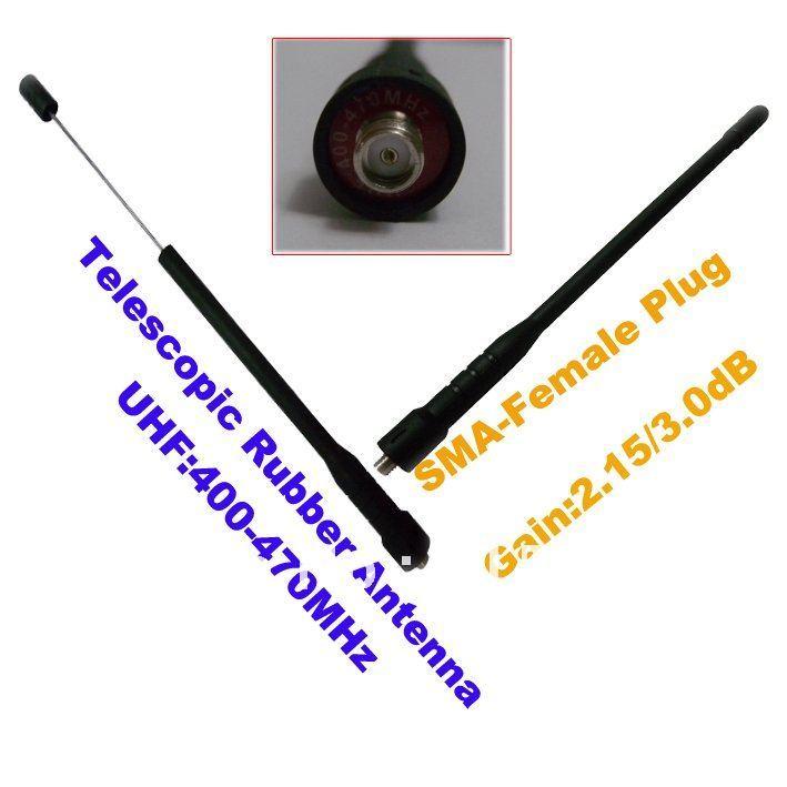 Promtion UHF:400-470MHz SMA-Female Telescopic Antenna For Portable Two-way Radio(SMA-Female Connector)