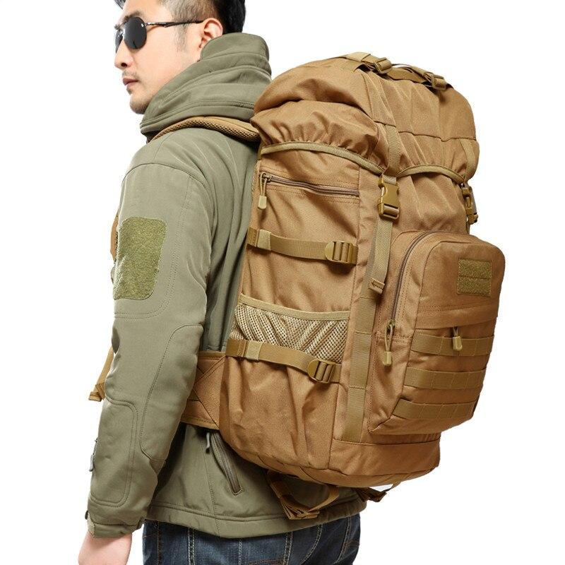50L Открытый военный тактический рюкзак большой Ёмкость кемпинг сумки Альпинизм мешок Для Мужчин's Пеший Туризм рюкзак для путешествий рюкза...