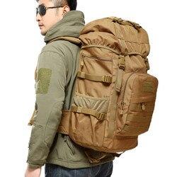 50L al aire libre mochila táctica militar de gran capacidad de bolsas montañismo bolsa de senderismo para hombres mochila de viaje de M90