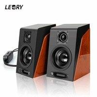 LEORY USB2 0 Desktop Speaker PC Computer Mini Speaker 3 5mm Subwoofer Universal Portable Full Range