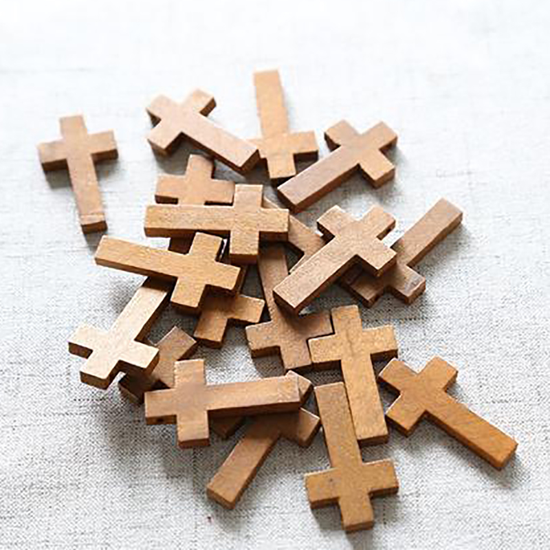 Geometric-Spacer Charms Jewelery Diy-Accessory Wooden Handmade Natural for 50pcs/Lot