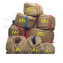 1mm-14mm coarse natural hemp rope tied outdoor staircase decorated fence diy manual