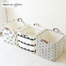 Foldable Laundry Basket Baby Toys Basket Fabirc Basket For Dirty Clothes Rangement Jouet 33*33*33Cm Home Organizer Laundry Hampe