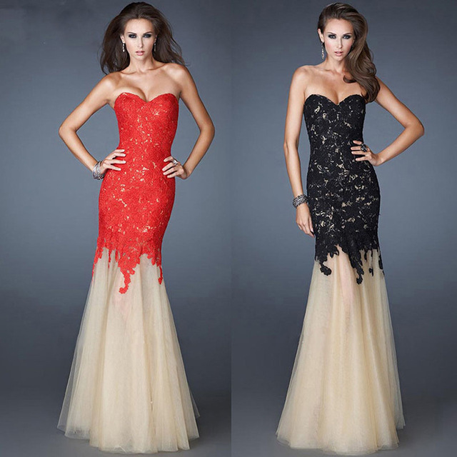 2015 Elegant Sexy Long Formal Dress Evening Dresses Sweetheart