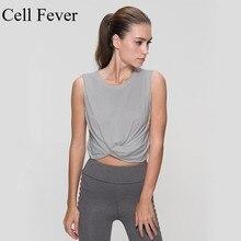 Solid Sexy Sport Top Fitness Women Sleeveless Yoga Shirts Short Shirt Female Sports Crop Ladies Vest T