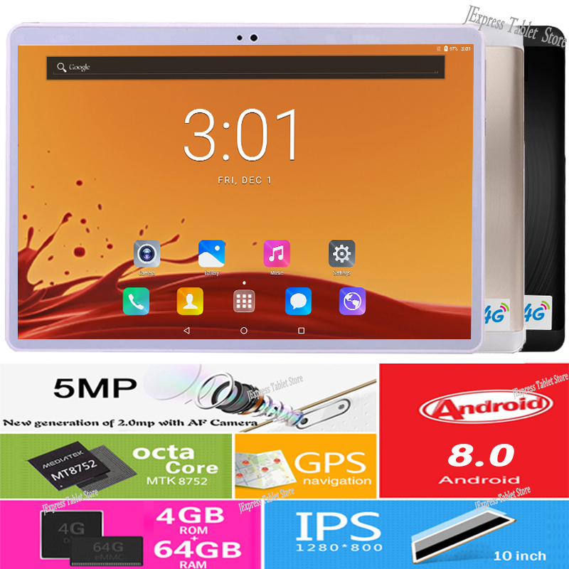 New Data Network Wifi Dual SIM Cards 4G LTE 10 inch 2 5D Glass tablet PC