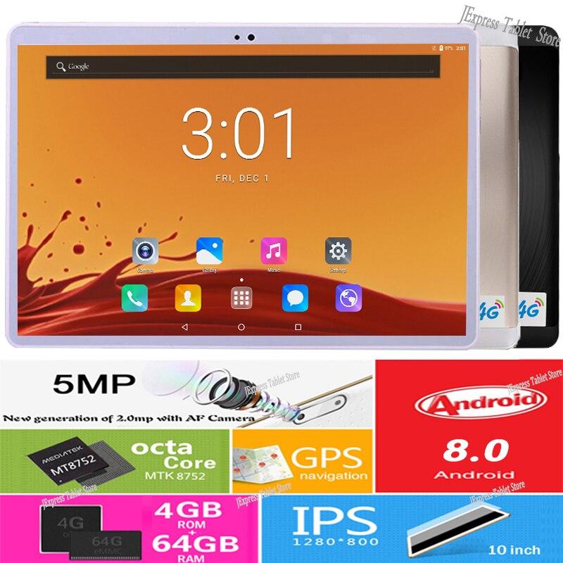 2019 nowy 2.5D 10 Cal z systemem Android 8.0 Tablet PC 1280x800 Octa Core 4 GB pamięci RAM i 64 GB ROM 5.0MP podwójna karta SIM z 4G telefon połączeń wideo tabletki w Tablety Android od Komputer i biuro na AliExpress - 11.11_Double 11Singles' Day 1