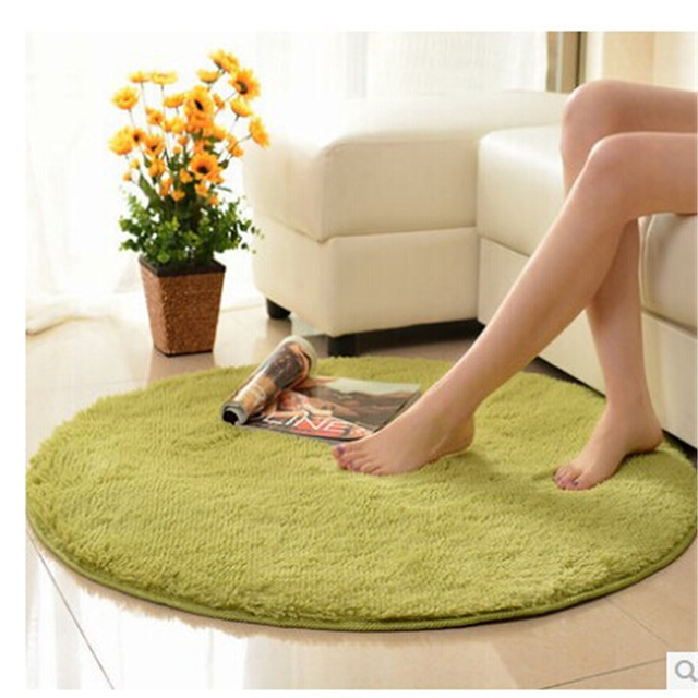 Solid Round Carpet Baby Room Carpets For Living Soft Fur Rugs Floor Bape Mat Flannel