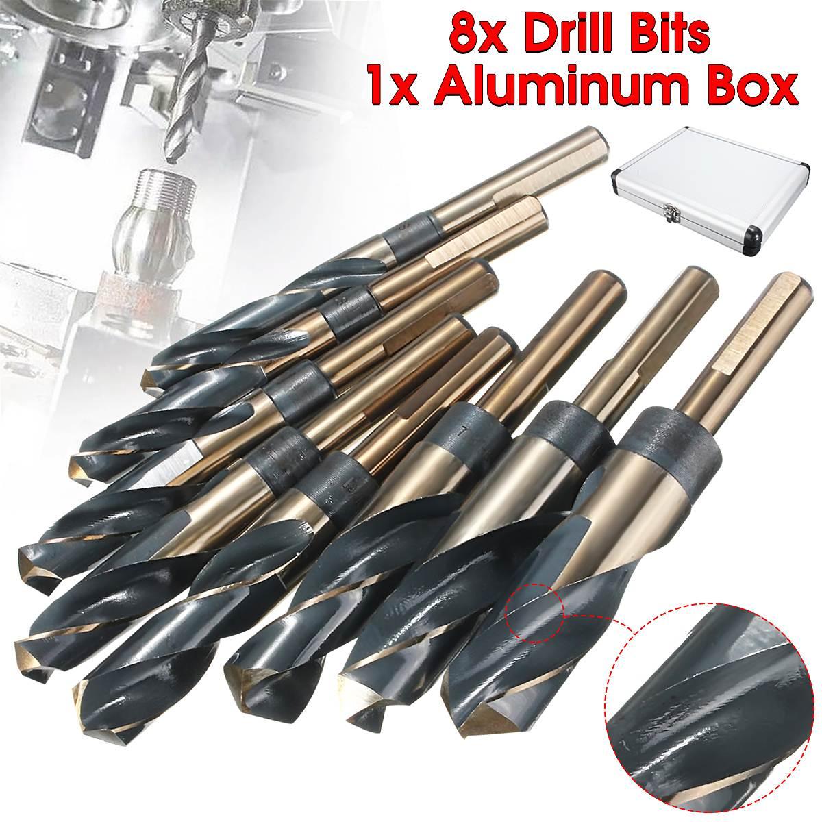 8PC HSS Cobalt Silver Deming Drill Bits Set коронка биметаллическая cobalt 8