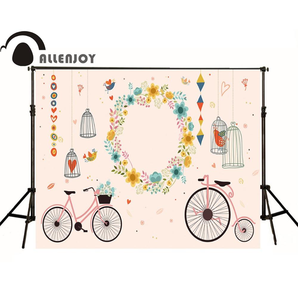 Prix pour Allenjoy personnalisé de soirée de mariage personnalisé photo backdrop cage vélo center guirlande personnalisé nom date photocall