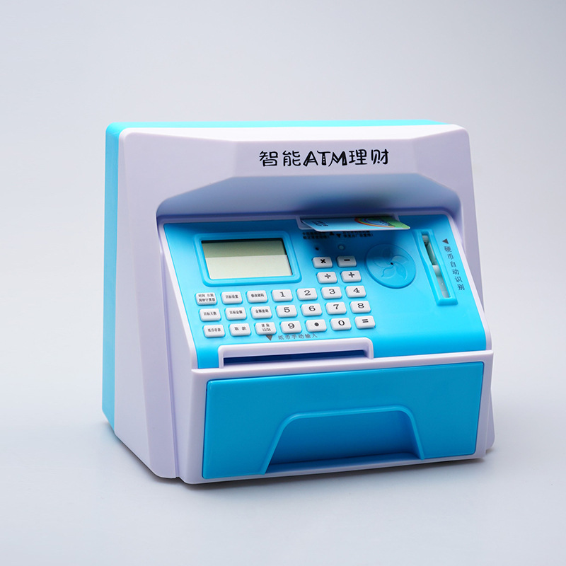 Creative 5 Colors Safety Electronic Piggy Bank Mini Atm Money Box Password Digital Coins Cash Deposit Children Gift In Chinese