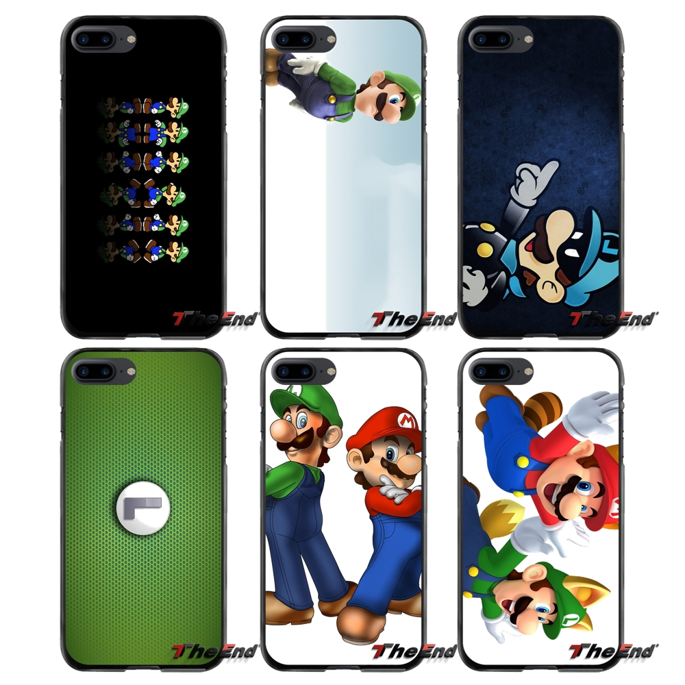For Apple iPhone 4 4S 5 5S 5C SE 6 6S 7 8 Plus X iPod Touch 4 5 6 Accessories Phone Cases Covers Luigi Super Mario ...