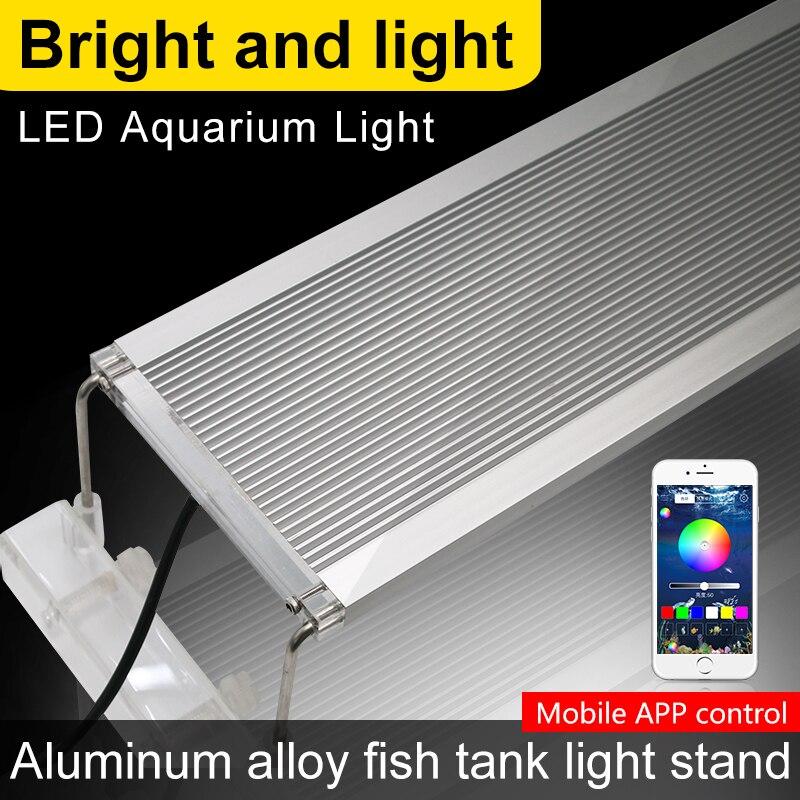 60-80 CM RVB lampe à LED Pour LED pour aquarium Éclairage Lumière de Réservoir de Poissons Pour LED pour aquarium Lampe Marine 60 CM 70 CM 80 CM lumière LED d'aquarium