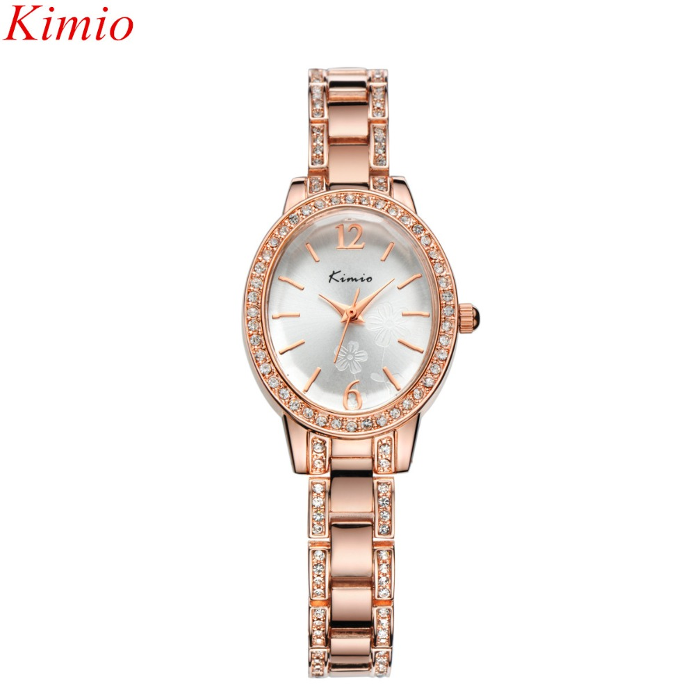 Kimio Women Watches Top Luxury Brand Full Stainless Steel Oval Dial Women Dress Bracelet watch Waterproof Ladies Quartz Watches стенка милан 16