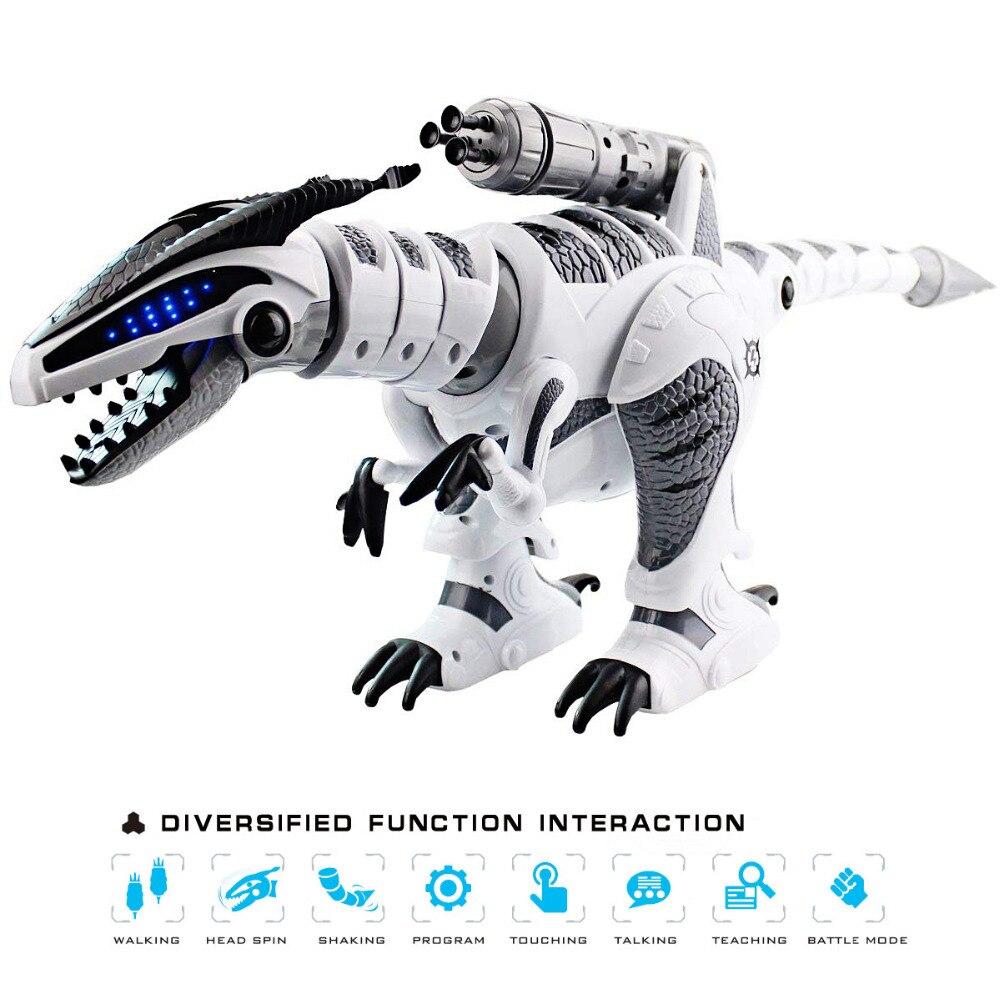 Dinozaury Walking robot dinozaur jurajski świat Brinquedos RC elektryczny dinozaur taneczne piosenki walki pilot zdalnego sterowania elektryczny Robot zwierząt domowych w Roboty i zwierzęta RC od Zabawki i hobby na  Grupa 1