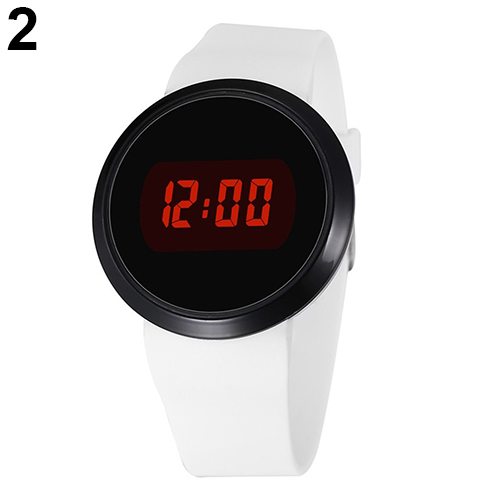 Men Fashion Waterproof LED Round Touch Screen Day Date Silicone Wrist Watch relogio digital watch sport watch in Digital Watches from Watches