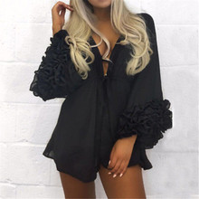 Women Sexy Beach Puff Sleeve Cover-up
