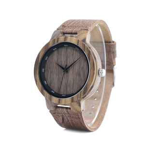 Image 3 - BOBO BIRD WD22 زيبرا ساعة خشب الرجال الحبوب حلقة من جلد مقياس دائرة العلامة التجارية مصمم ساعات كوارتز للرجال والنساء في صندوق خشبي