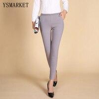 Sıcak Casual kadın Katı Renk Pantolon pantolon Yüksek Waisted Dış Giyim Kadın Moda Ince Sıska Pantolon Artı Boyutu Pantolon 1601