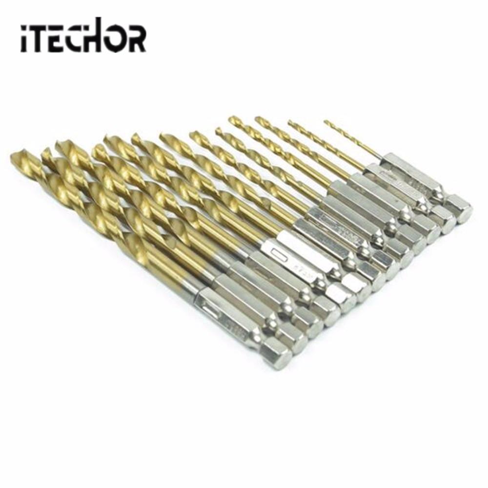 ITECHOR 1.5-6.5 мм HSS Титан покрытием шлифовальные Электрический поворотный набор файлов 1/4 шестигранным хвостовиком Вольфрам карбида твист