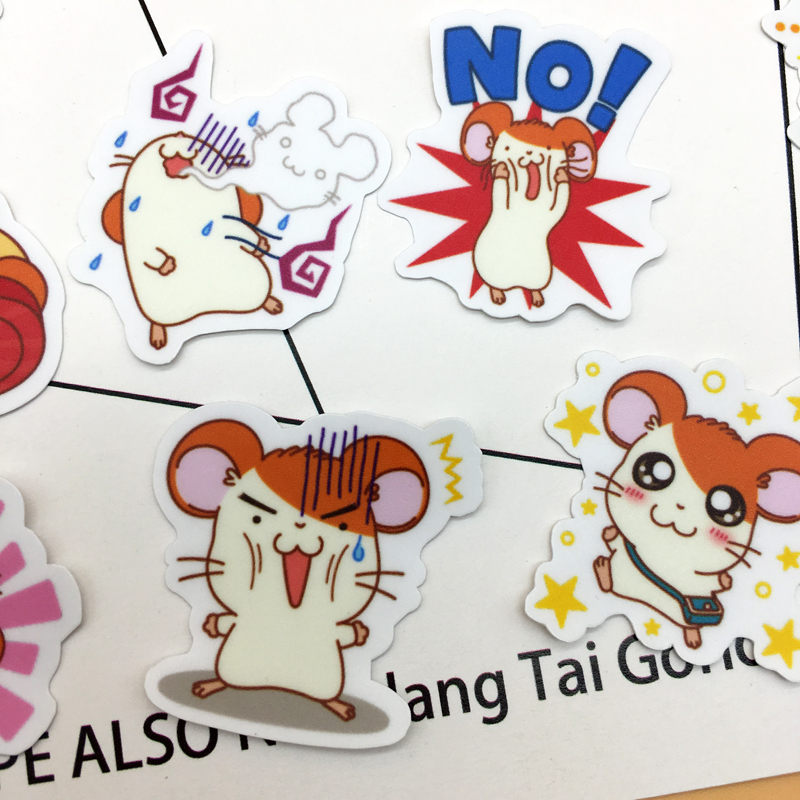 Купить с кэшбэком 40pcs Cute Little Hamster Hamtaro Sticker Self-made Scrapbooking Decorative  decoration /waterproof paper stickers