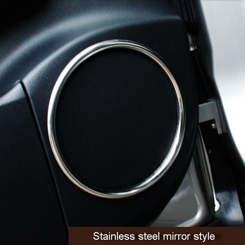 Tonlinker Cover case Stickers For LEXUS 2016 rx200t RX450h car styling 6 pcs stainless steel door speaker interior stickers