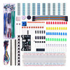 2017 New Arrival Power Supply Module 830 Hole Breadboard Resistor Capacitor LED Kit For Arduino Beginner