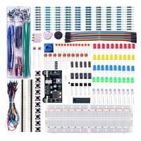 2017 New Arrival Power Supply Module 830 Hole Breadboard Resistor Capacitor LED Kit For Arduino Beginner