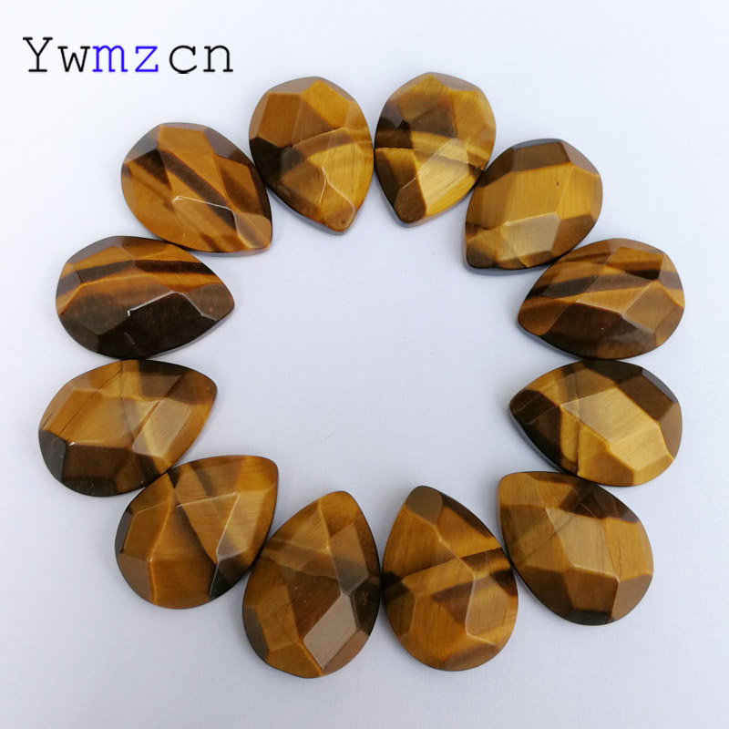 fashion High quality section Tiger eye natural stone bead for jewelry making 13X18MM 12Pcs/lot cab cabochon Ring accessories