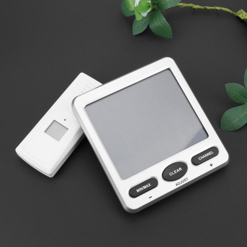 LCD Digital Wireless 8-Channel Indoor/Outdoo WS-07-X5 Big Digit Thermo-Hygrometerwith Five Remote Sensors Thermometer hc520 2 5 lcd indoor