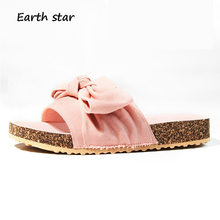 79bd8eeb219b72 EARTH STAR Canvas Shoes Women Brand Fashion Slippers Lady with Bow Sweet  Style alpargatas Female footware Girl Slides chaussure