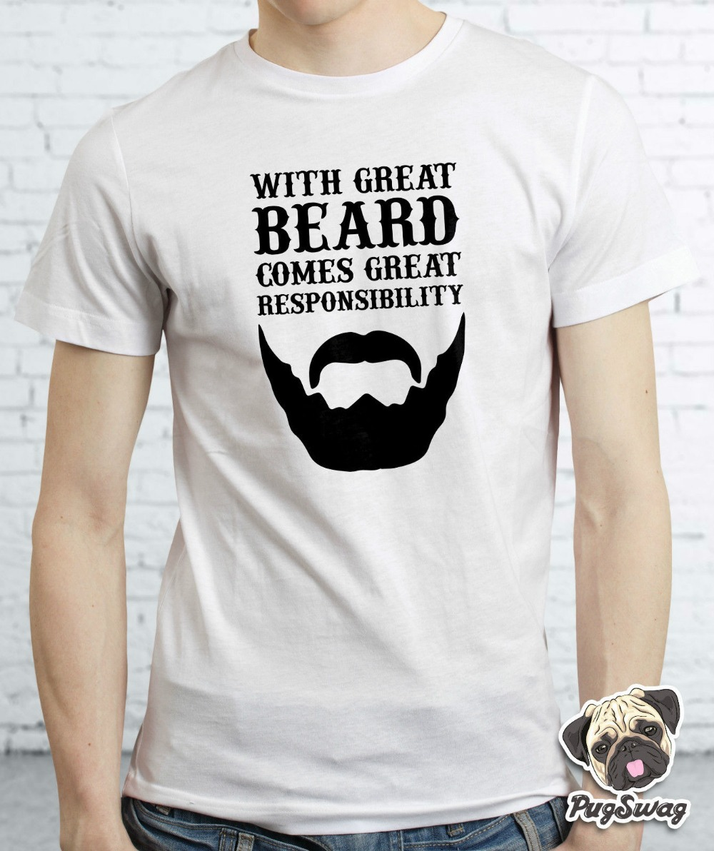 With great beard comes retro funky hipster t shirt tshirt for Funky t shirts online