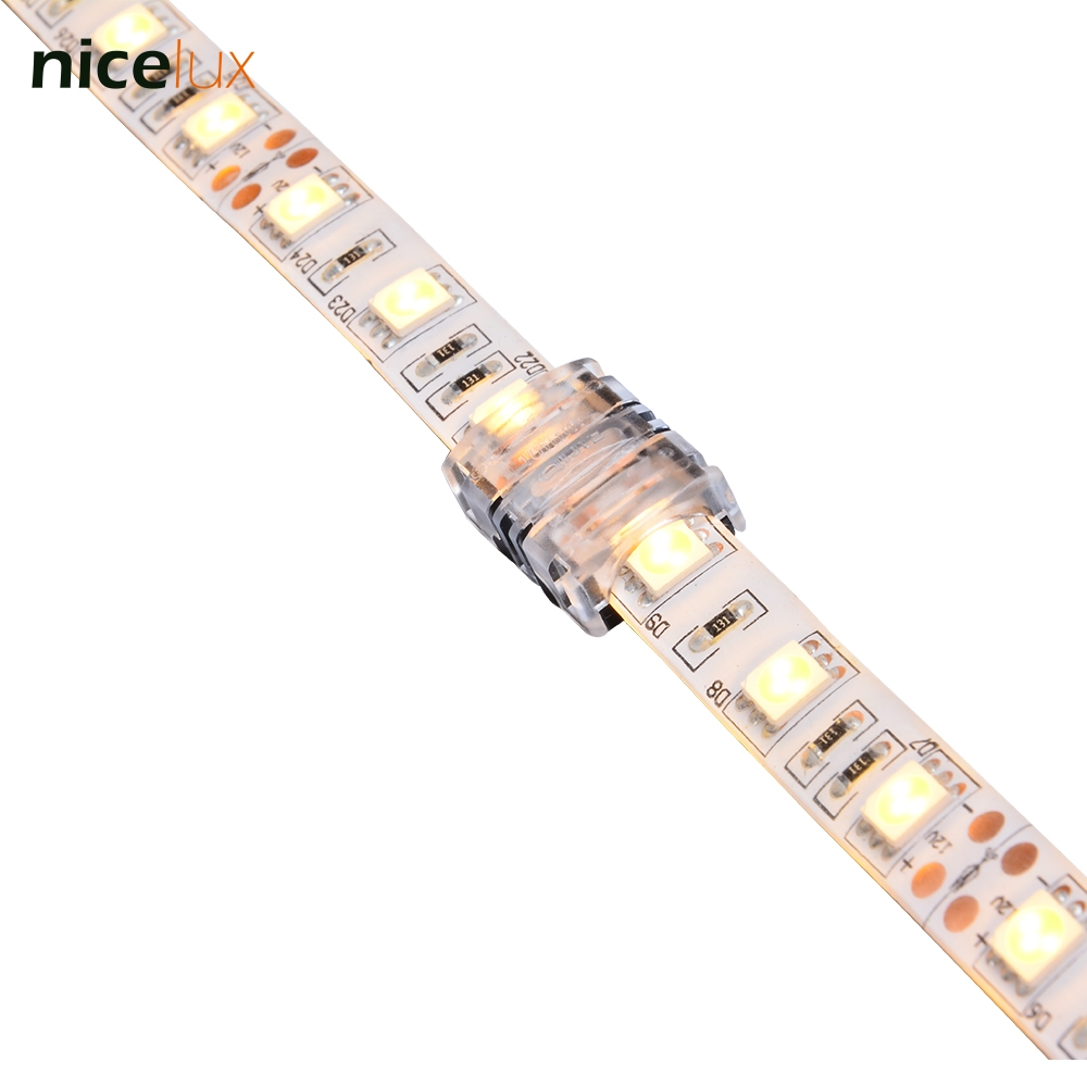 10pcs 2 Pin Quick Connector for SMD 10mm Waterproof IP65 LED Tape Light 5050 5630 Connector Strip to Strip Connection 10pcs 5 pin led strip to wire connector for 12mm rgbw rgby waterproof ip65 5050 led tape light connection conductor