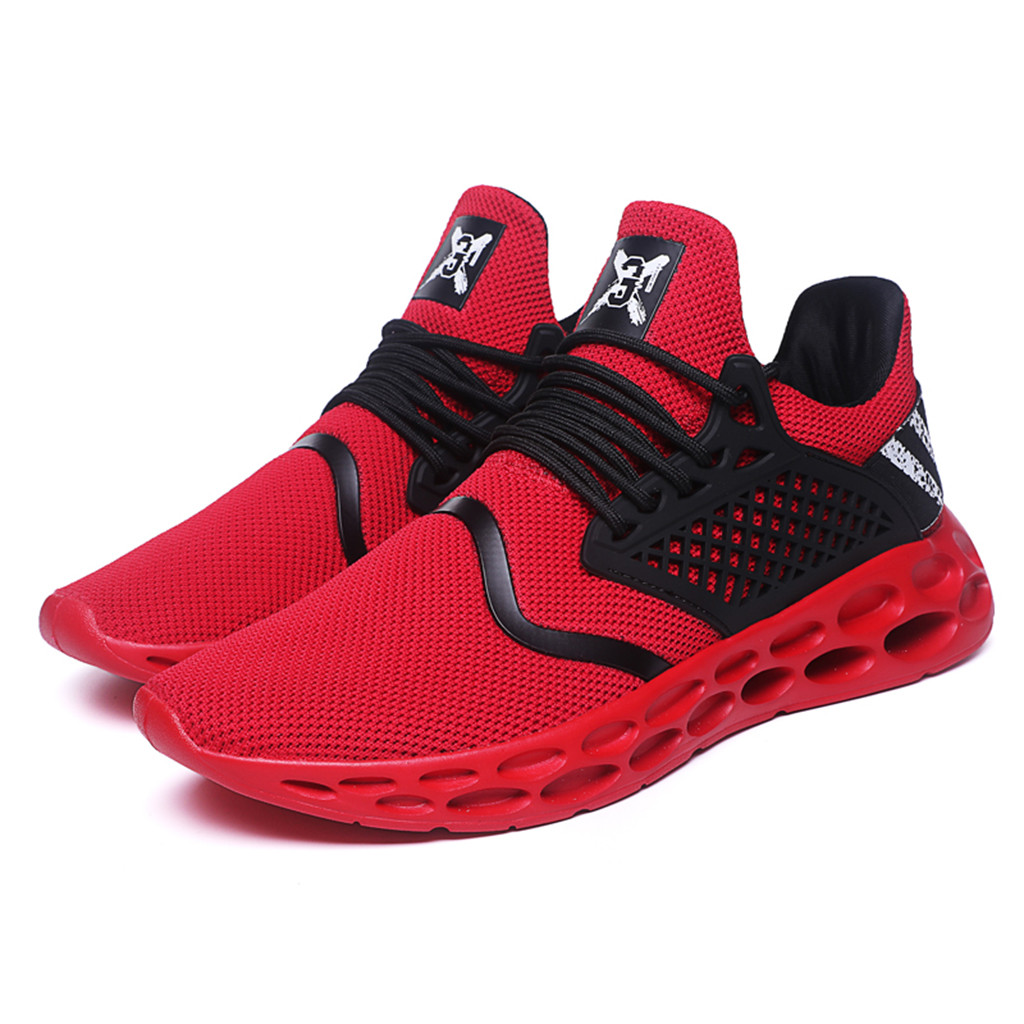 CHAMSGEND Trend Hot Men's Shoes Lightweight Breathable Sports Shoes Casual Running Shoes Wild Comfortable Outdoor Sports Shoes