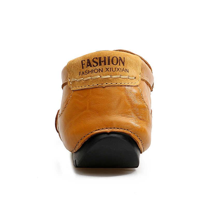 รองเท้าสบายๆฤดูร้อนรองเท้าผู้ชายหนัง Loafers Slip บนรองเท้าแตะ Oxford เรือแบนรองเท้าแฟชั่นรองเท้าผ้าใบคุณภาพสูงขนาดใหญ่ขนาด